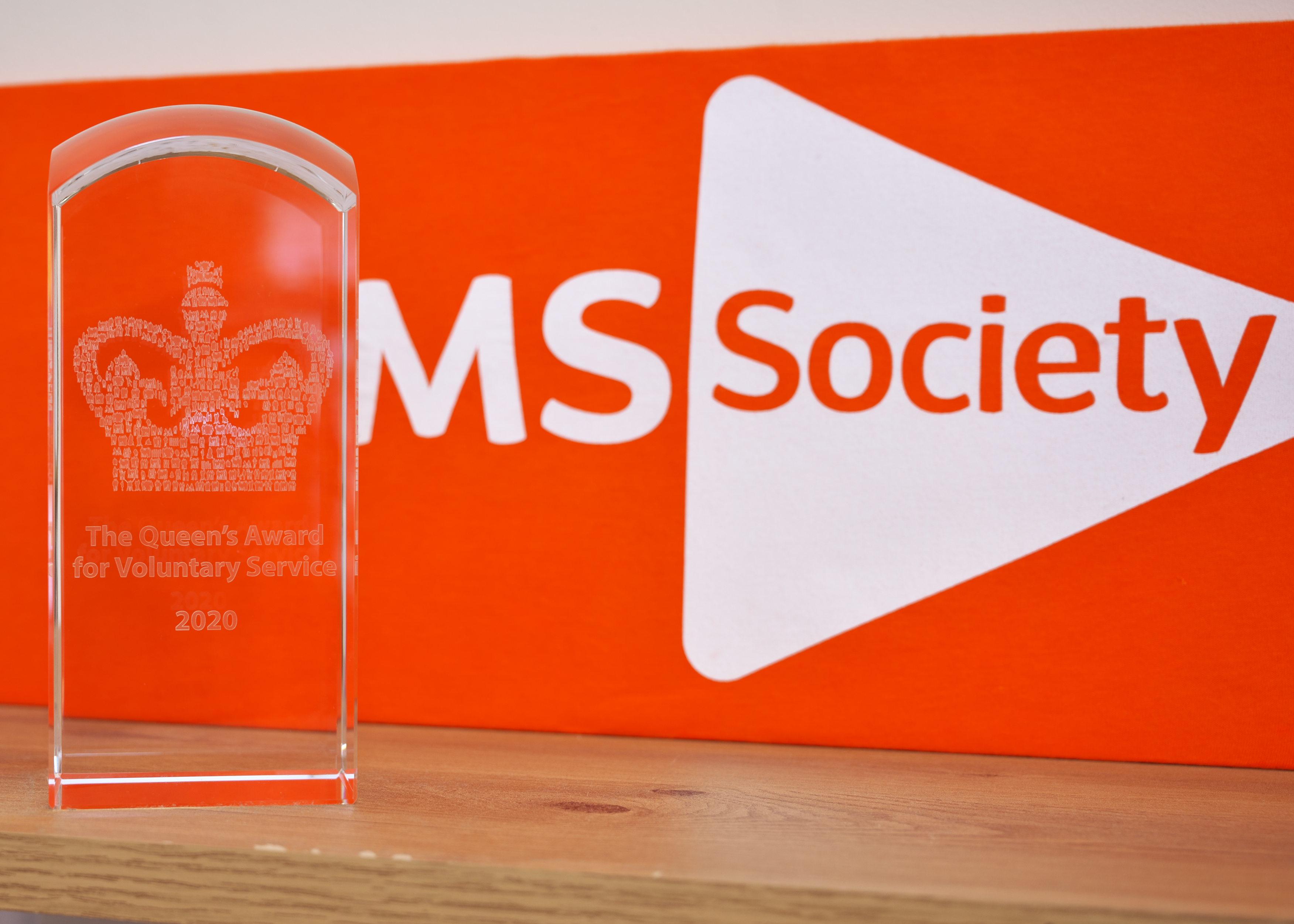 Crystal engraved award